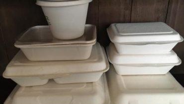 Hộp cơm bã mía đựng thức ăn nóng dùng 1 lần giá sỉ