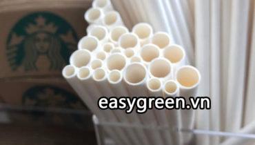 Ống hút giấy trắng an toàn cho sức khỏe – xu thế ống hút hiện đại