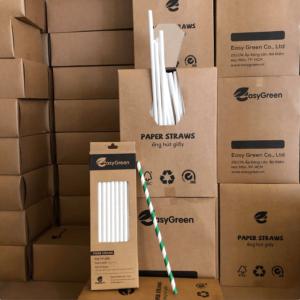 Hộp dựng ống hút giấy bằng vật liệu thân thiện môi trường