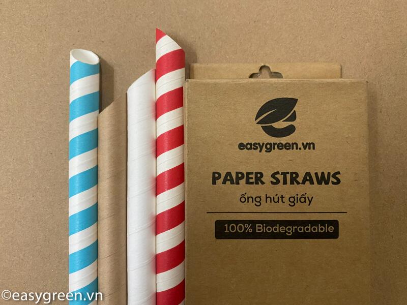 ống hút giấy vát nhọn